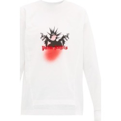 8 Moncler Palm Angels - T-shirt manches longues à imprimé graffiti