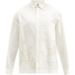 Jacquemus - Baou Abstract-print Cotton-blend Shirt - Mens - White found on Bargain Bro UK from Matches UK