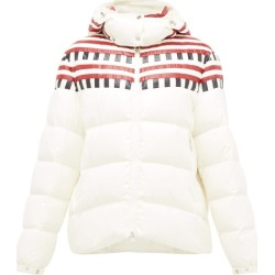 1 Moncler Pierpaolo Piccioli - Evelyn Colour-block Down-filled Hooded Jacket - Womens - White Multi found on Bargain Bro India from Matches Global for $2800.00