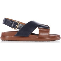 Marni - Fussbett Smooth Leather Sandals - Womens - Navy Multi found on Bargain Bro UK from Matches UK