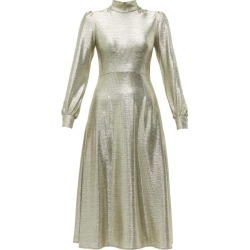 Goat - Goldfinch Balloon-sleeve Foiled-jersey Midi Dress - Womens - Silver found on MODAPINS from Matches Global for USD $276.00