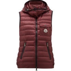 Moncler - Glycine Hooded Quilted-down Gilet - Womens - Burgundy found on Bargain Bro India from Matches Global for $1100.00