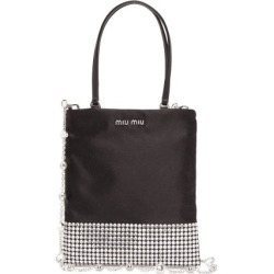 Miu Miu - Crystal-embellished Satin Bag - Womens - Black Multi found on Bargain Bro UK from Matches UK