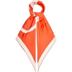 Valentino Garavani - V-logo Print Silk-faille Scarf - Womens - Orange found on Bargain Bro India from Matches Global for $375.00