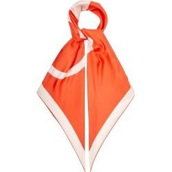 Valentino Garavani - V-logo Print Silk-faille Scarf - Womens - Orange found on Bargain Bro Philippines from Matches Global for $375.00