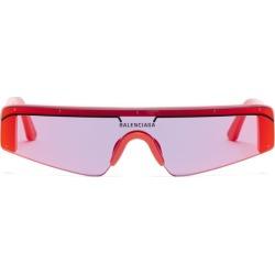Balenciaga - Ski Reflective Lens Shield Acetate Sunglasses - Mens - Red found on Bargain Bro UK from Matches UK