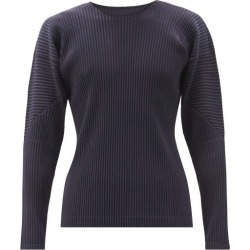 Homme Plissé Issey Miyake - Technical-pleated Long-sleeve T-shirt - Mens - Navy found on MODAPINS from Matches Global for USD $221.00