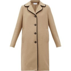 Harris Wharf London - Clover-lapel Piped Pressed-wool Coat - Womens - Beige found on MODAPINS from Matches Global for USD $645.00