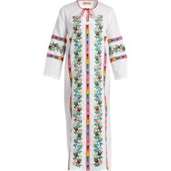 Muzungu Sisters - Jasmine Vine Embroidered Cotton Dress - Womens - White Multi found on Bargain Bro UK from Matches UK