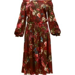 Adriana Iglesias - Creek Grapevine-print Silk-blend Dress - Womens - Burgundy Print found on MODAPINS from MATCHESFASHION.COM - AU for USD $335.47