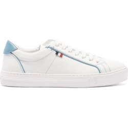 Moncler - Alodie Leather Trainers - Womens - Blue White found on Bargain Bro UK from Matches UK