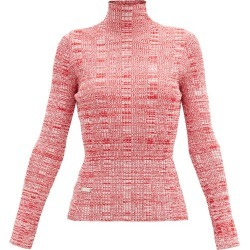 Ellery - Rockies Mélange Rib-knitted Roll-neck Top - Womens - Red White found on MODAPINS from Matches Global for USD $217.00