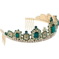 Dolce & Gabbana - Crystal-embellished Tiara - Womens - Green found on Bargain Bro India from Matches Global for $2209.00
