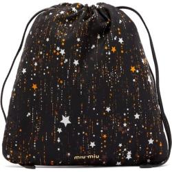 Miu Miu - Shooting Stars Nylon Pouch - Womens - Black Multi found on Bargain Bro UK from Matches UK