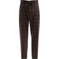 Marni - Checked Wool-blend Straight-leg Trousers - Mens - Black Brown found on Bargain Bro UK from Matches UK