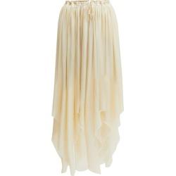 Ann Demeulemeester - Nanette Asymmetric-hem Satin Skirt - Womens - Cream found on MODAPINS from MATCHESFASHION.COM - AU for USD $244.26