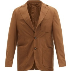 Caruso - Ponza Single-breasted Twill Blazer - Mens - Brown found on MODAPINS from Matches Global for USD $1001.00