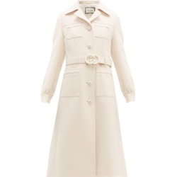 Gucci - Gardenia Gg-belt Single-breasted Wool Coat - Womens - Ivory found on Bargain Bro India from Matches Global for $3980.00