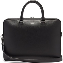 Burberry - Ainsworth Logo-print Grained-leather Briefcase - Mens - Black found on Bargain Bro from Matches UK for £1227