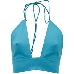 Kalita - Plato Tie-neck Halterneck Cotton Top - Womens - Green found on MODAPINS from MATCHESFASHION.COM - AU for USD $132.52