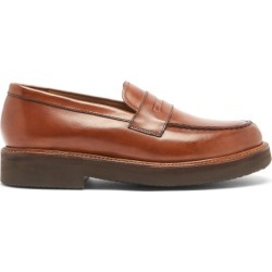 Grenson - Peter Platform-sole Leather Penny Loafers - Mens - Tan found on MODAPINS from Matches Global for USD $314.00