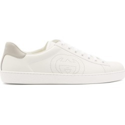 Gucci - Baskets en cuir à perforations GG Ace found on Bargain Bro India from matchesfashion.com fr for $676.00