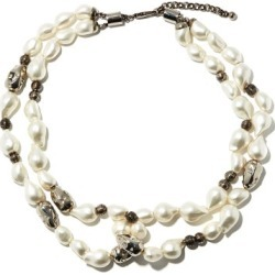 Chloé - Crystal And Pearl Necklace - Womens - Pearl found on Bargain Bro UK from Matches UK