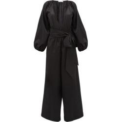 Kalita - Venus Wide-leg Silk-blend Jumpsuit - Womens - Black found on MODAPINS from Matches UK for USD $352.22