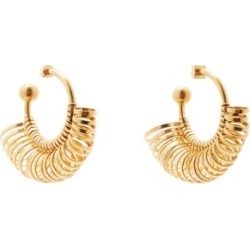 Jacquemus - Ring-embellished Hoop Earrings - Womens - Gold found on Bargain Bro UK from Matches UK