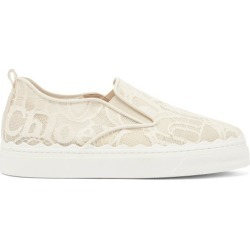 Chloé - Lauren Scallop-edge Logo-lace Slip-on Trainers - Womens - Cream found on Bargain Bro UK from Matches UK