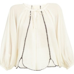 Anaak - Lago Drawstring-neck Cotton Blouse - Womens - Ivory found on MODAPINS from MATCHESFASHION.COM - AU for USD $98.60