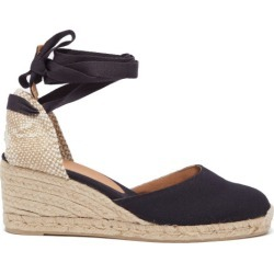 Castañer - Carina 60 Canvas & Jute Wedge Espadrilles - Womens - Navy found on MODAPINS from Matches UK for USD $116.16