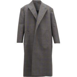 Balenciaga - Oversized Prince Of Wales Check Cotton-blend Coat - Mens - Grey