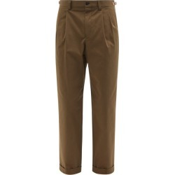 Caruso - Pleated Cotton-blend Straight-leg Trousers - Mens - Beige found on MODAPINS from Matches Global for USD $275.00