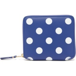 Comme Des Garçons Wallet - Polka-dot Leather Bi-fold Wallet - Womens - Navy Multi found on MODAPINS from Matches UK for USD $207.12