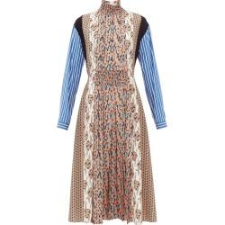 Prada - High-neck Patchwork-print Sablé Midi Dress - Womens - Orange Print found on Bargain Bro UK from Matches UK