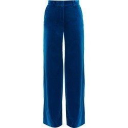Bella Freud - Kim Cotton-velvet Wide-leg Trousers - Womens - Blue found on MODAPINS from Matches UK for USD $531.99