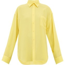 Balenciaga - Silk-crepe Blouse - Womens - Yellow found on Bargain Bro India from Matches Global for $357.00