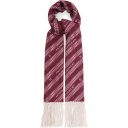 Givenchy - Chain-logo Jacquard Wool-blend Scarf - Womens - Red Multi found on Bargain Bro UK from Matches UK