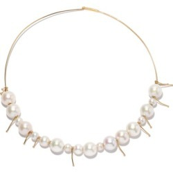 Jil Sander - Pearl & Gold-plated Choker - Womens - Pearl found on Bargain Bro UK from Matches UK