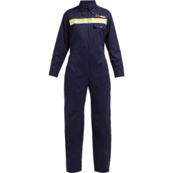 Bella Freud - Daytona Cotton Drill Jumpsuit - Womens - Navy Multi found on MODAPINS from Matches UK for USD $670.97