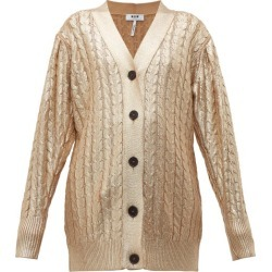 MSGM - Metallic Cable-knit Wool-blend Cardigan - Womens - Gold found on Bargain Bro UK from Matches UK