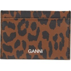 Ganni - Logo And Leopard-print Leather Cardholder - Womens - Leopard found on Bargain Bro India from Matches Global for $85.00