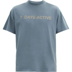 7 Days Active - Korean Town Logo-print Organic-cotton T-shirt - Mens - Navy found on Bargain Bro Philippines from Matches Global for $59.00