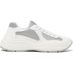Prada - America's Cup Patent-leather Trainers - Mens - White Silver found on Bargain Bro UK from Matches UK