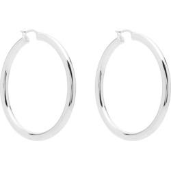 Bottega Veneta - Sterling-silver Hoop Earrings - Womens - Silver found on Bargain Bro UK from Matches UK