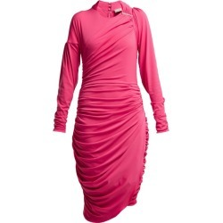 Preen By Thornton Bregazzi - Alexandra Crinkled-georgette Ruched Midi Dress - Womens - Pink found on Bargain Bro India from Matches Global for $241.00
