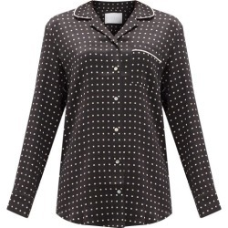 Asceno - Paris Square-print Silk Pyjama Shirt - Womens - Black Multi found on MODAPINS from Matches Global for USD $195.00