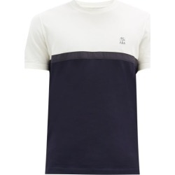 Brunello Cucinelli - Bi-colour Cotton-jersey T-shirt - Mens - Navy Multi found on MODAPINS from Matches Global for USD $345.00