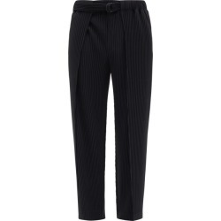 Homme Plissé Issey Miyake - Belted Technical-pleated Trousers - Mens - Black found on MODAPINS from Matches Global for USD $455.00